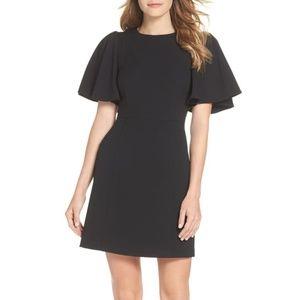 NWT Eliza J Flutter Sleeve Crepe Sheath Dress